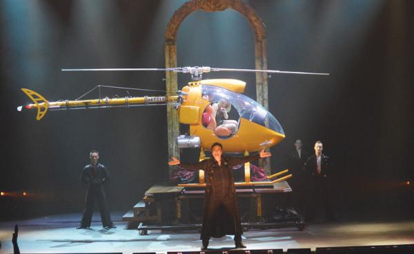 disparition hélicoptère sur scène